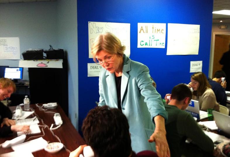 Elizabeth Warren Visits Staff