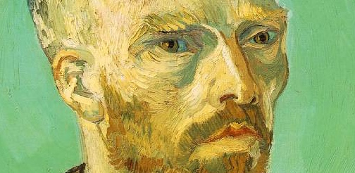 "Van Gogh's ""Self-Portrait Dedicated to Paul Gauguin"" Close-Up"